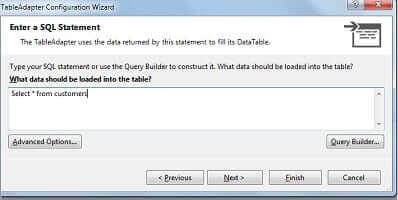 Enter a SQL Statement