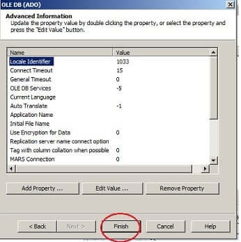 Create Your First Crystal Report - OLE DB Advance Information