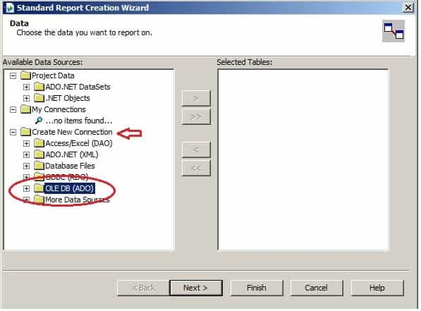 Create Your First Crystal Report - Standard Report Creation Wizard