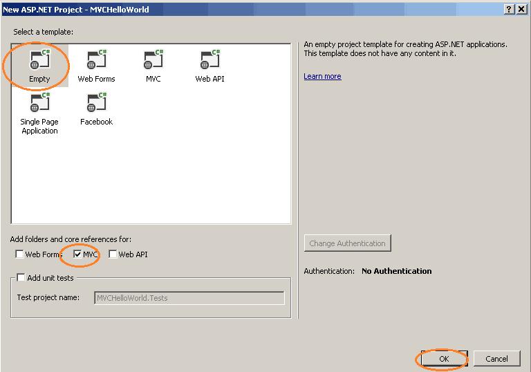 New ASP.NET Project