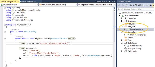 MVC Routing Basics RouteConfig