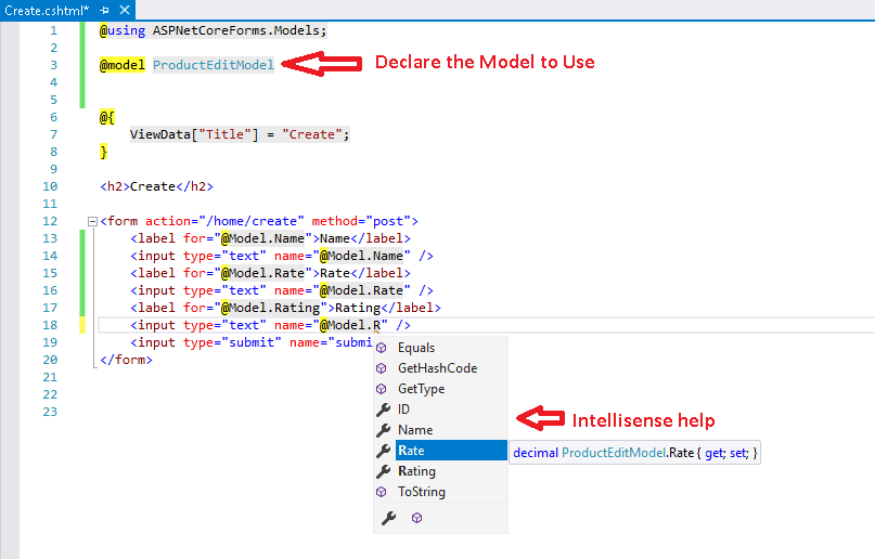 How to Create Strongly Typed View in ASP.NET Core MVC