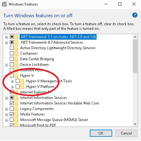 Disable Hyper-V in Windows