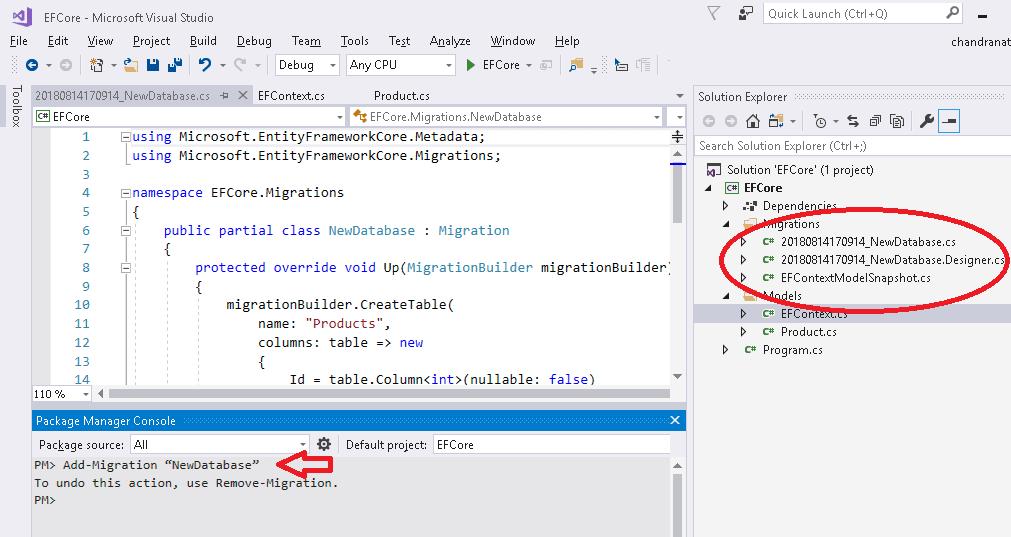 EF Core Add-Migration