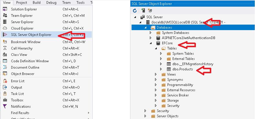 EF Core Update-database