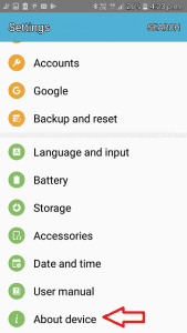 Go to Settings and Locate About Phone About Device or About Tablet