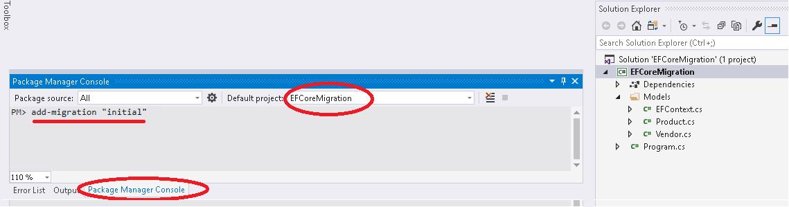 Add-Migration in Entity Framework Core Migration