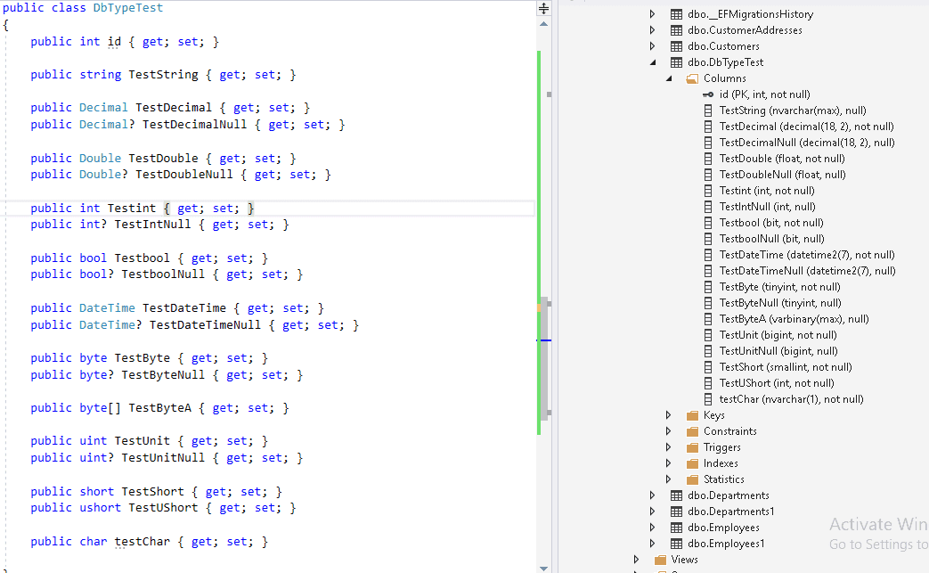 EF Core Column Data Type Conventions